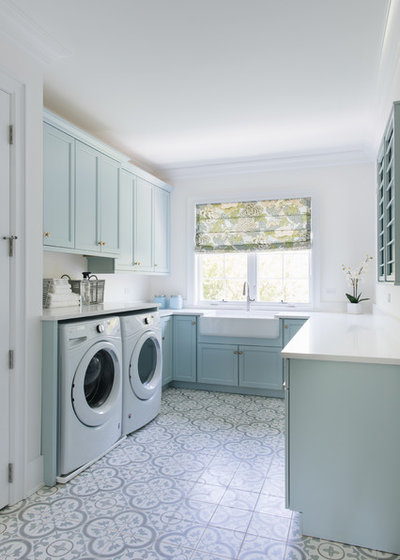 Beach Style Laundry Room by Ash Street Interiors