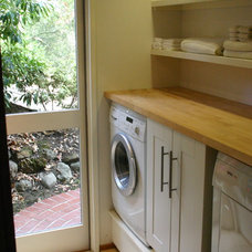 Contemporary Laundry Room by Shannon White Design