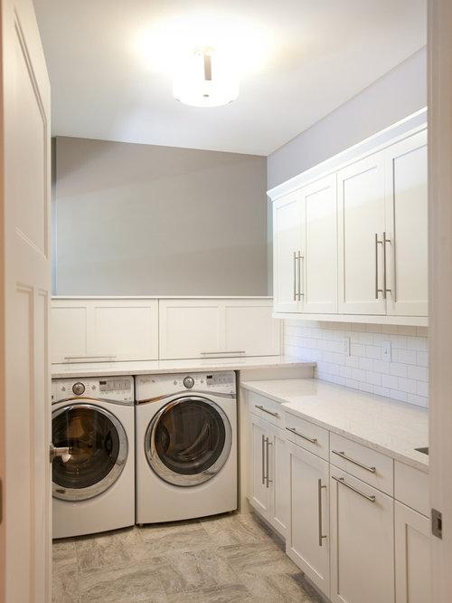 Laundry Room Design Ideas, Remodels & Photos with Linoleum ...