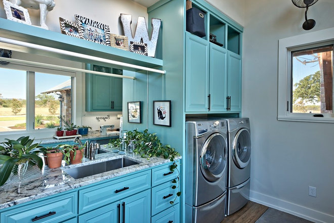 Traditional Laundry Room by Karissa Mae Wade Design