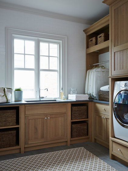 Beach Style Laundry Room by Cronk Duch Architecture