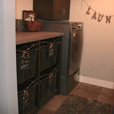 Traditional Laundry Room by Designer for Triton Homes, Owner Triton Interiors