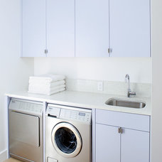 Contemporary Laundry Room by Jetton Construction, Inc.