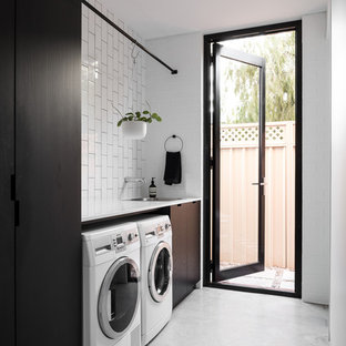 Urban laundry room photo in Perth