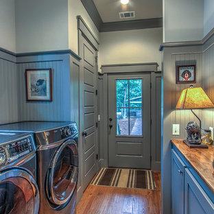 Неиссякаемый источник вдохновения для домашнего уюта: прачечная в классическом стиле