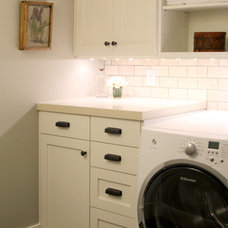 Craftsman Laundry Room by Opal Design Group