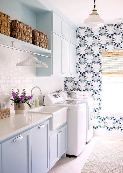 Farmhouse Laundry Room by Cindy O'Brien Design
