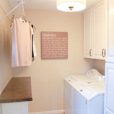 Traditional Laundry Room by KN Interiors
