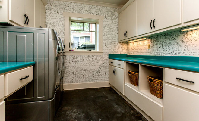 Contemporary Laundry Room by Trey Cole Design & Construction