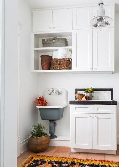 Southwestern Laundry Room by NEST Design Group