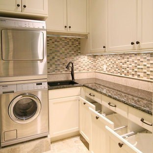 Elegant laundry room photo in Dallas