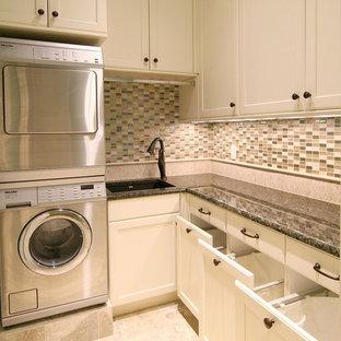 Elegant laundry room photo in Dallas