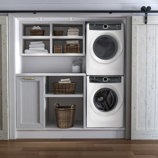 This is an example of a contemporary utility room in New York.