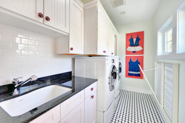Beach Style Laundry Room by Echelon Custom Homes