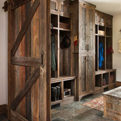 eclectic laundry room by Bigfork Builders Inc