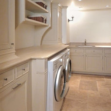 Traditional Laundry Room by Hefner Woodworking + Sorkin Design