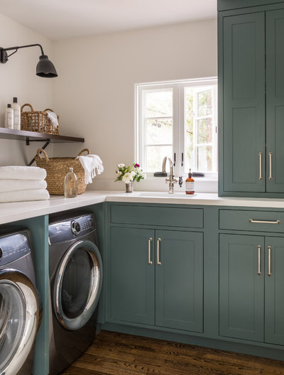 Mediterranean Laundry Room by Jute Interior Design