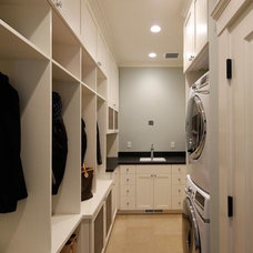 Mediterranean Laundry Room by Allwood Construction Inc