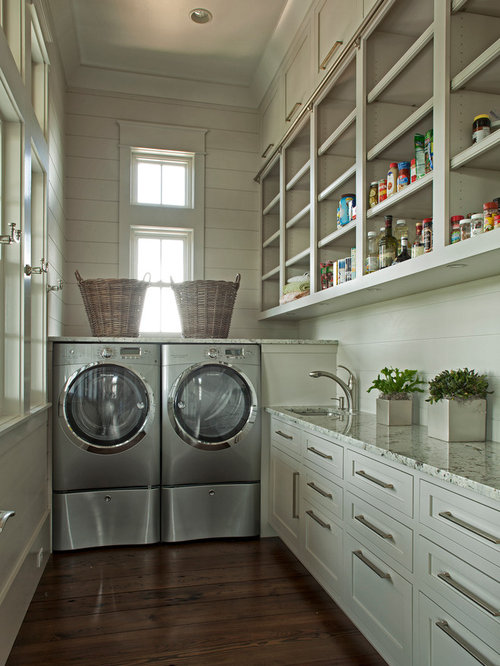 Elegant L Shaped Laundry Room Photo In Miami Part 38