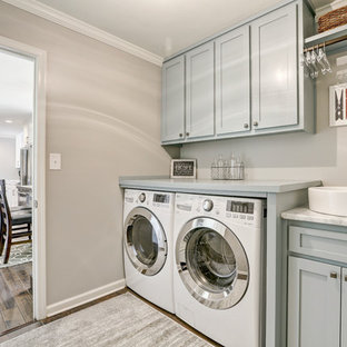 Inspiration for a transitional laundry room remodel in Atlanta