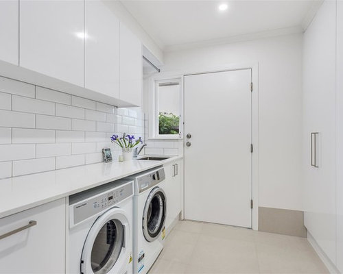 Design Ideas For A Mid Sized Contemporary Galley Dedicated Laundry Room In  Gold Coast