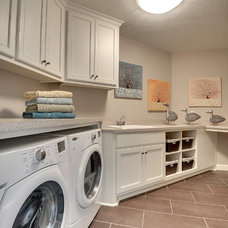 Traditional Laundry Room by Architectural Designs