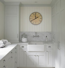 traditional laundry room by Huestis Tucker Architects, LLC