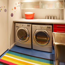 Contemporary Laundry Room by Lisa Lev Design