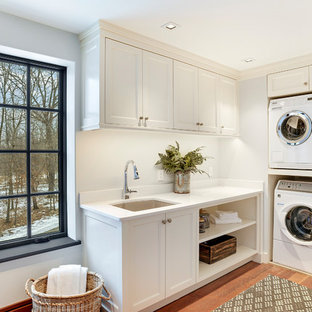 Example of a transitional laundry room design in Minneapolis
