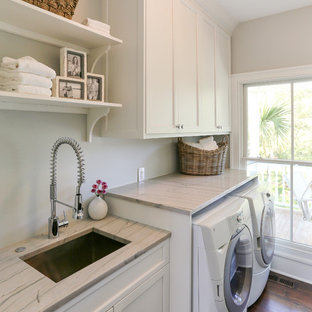 Laundry room - traditional laundry room idea in San Francisco with an undermount sink