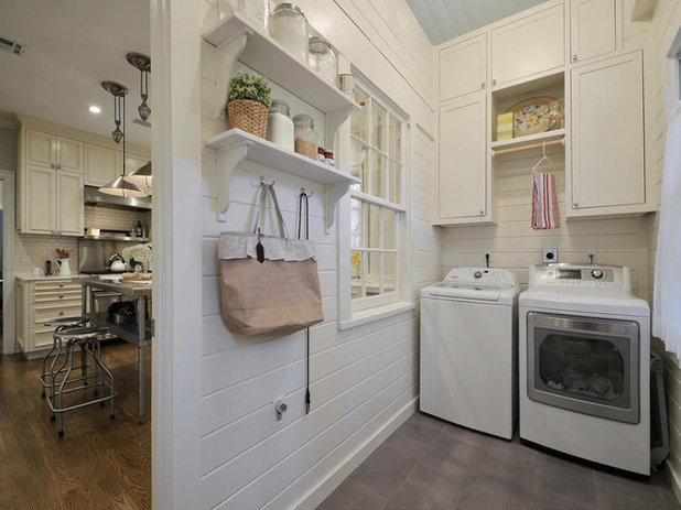 Farmhouse Laundry Room by Messer Design + Construction
