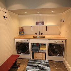 Traditional Laundry Room by Hudson Place Realty