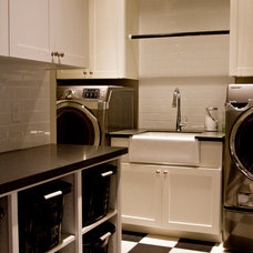 Transitional Laundry Room by Belmont Design Group