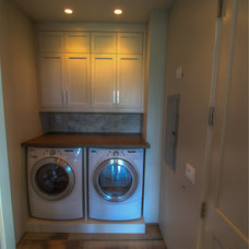 Modern Laundry Room by BedBrock Developers, LLC