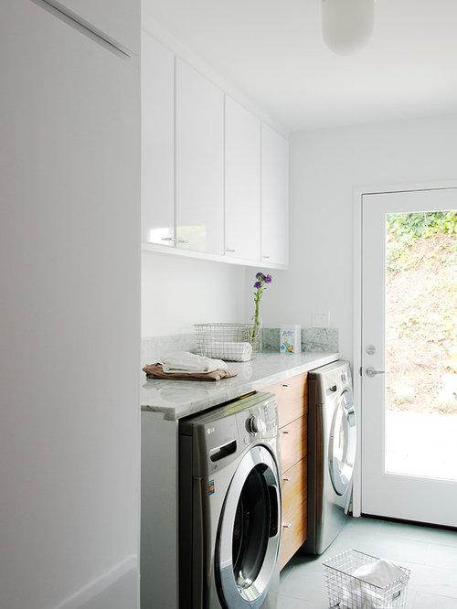 buanderie moderne avec un sol en ardoise photos et id es. Black Bedroom Furniture Sets. Home Design Ideas