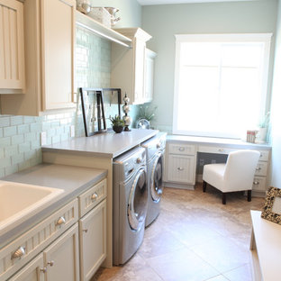 Example of a laundry room design in Seattle