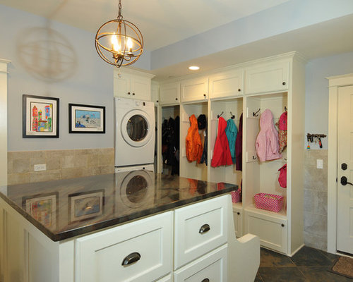 Countertop Materials For Laundry Room : Laundry Room Design Ideas, Remodels & Photos with Recessed-Panel ...