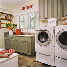 traditional laundry room by Jane Ellison