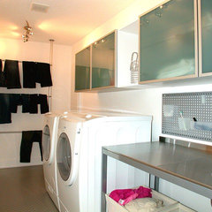 contemporary laundry room by Jerry Bussanmas