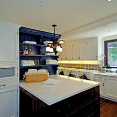 mediterranean laundry room by Joni Koenig Interiors