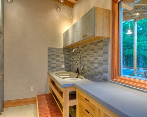Concrete Laundry Sink Base : ... concrete benchtops, concrete floors, an utility sink, flat-panel