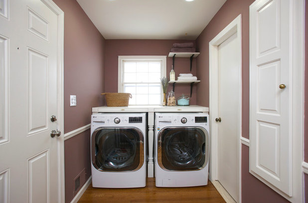 Transitional Laundry Room by The Cousins