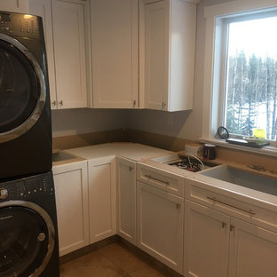 Inspiration for a laundry room remodel in Vancouver