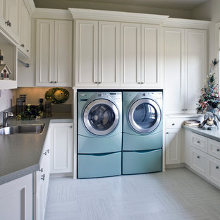 Inspiration For A Timeless Laundry Room Remodel In Portland With Drop Sink