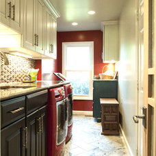 Eclectic Laundry Room by Cameo Kitchens, Inc.