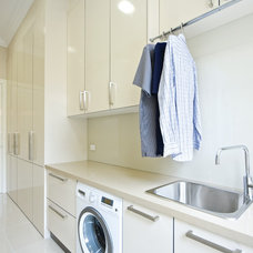 Contemporary Laundry Room by kitchens by peter gill