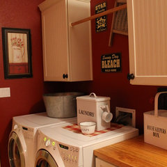 traditional laundry room Kim Wilson