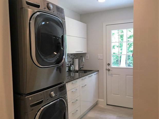 Transitional Laundry Room by Lush Kitchen Design