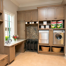 Transitional Laundry Room by Kitchen & Bath Cottage