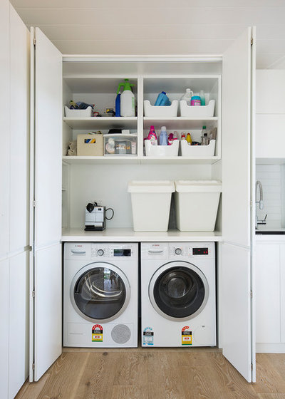 Contemporary Laundry Room by Lakeside Joinery